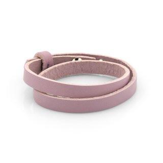 Lederarmband personalisiert rosa ohne Motiv