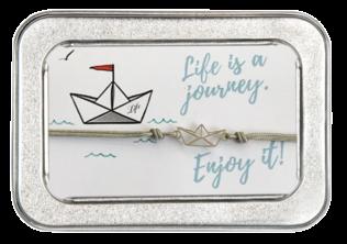 Freundschafts-Armband Papierschiffchen
