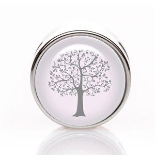 Schiebeperle Baum grau-rosa