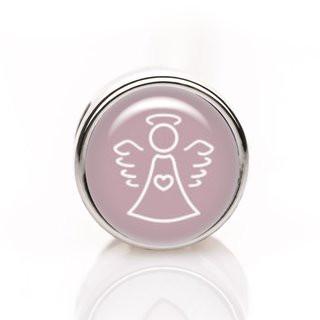 Mini-Schiebeperle Schutzengel rosa