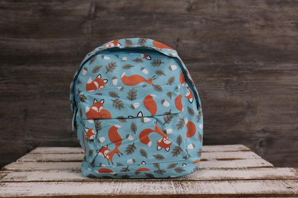 Kinderrucksack Fuchs orange-blau