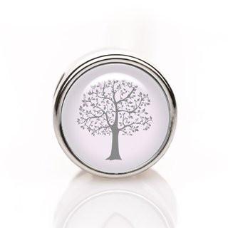 Mini-Schiebeperle Baum grau-rosa