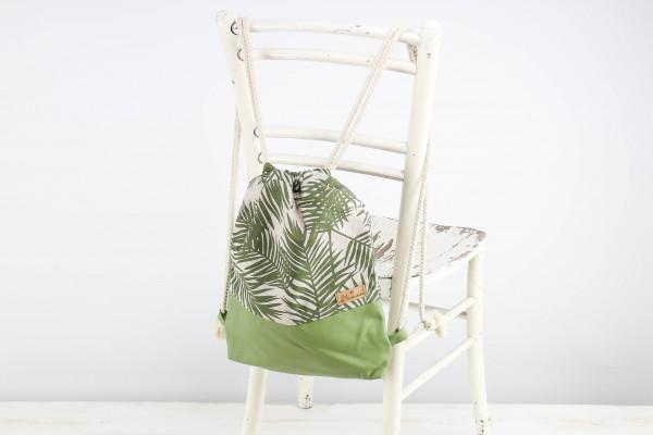 festivalbag palmleaves olivegreen