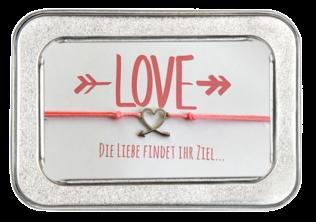 Freundschafts-Armband Die Liebe findet ihr Ziel