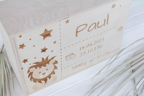 Erinnerungsbox Löwe personalisiert