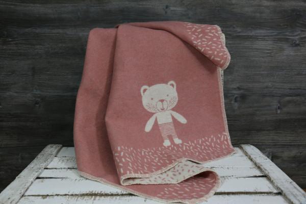 Babydecke Bär rosa