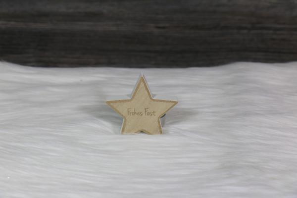 gravierter Stern klein weiß
