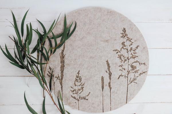 Tischset Gräser sand