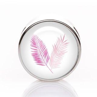 Schiebeperle Feder pink