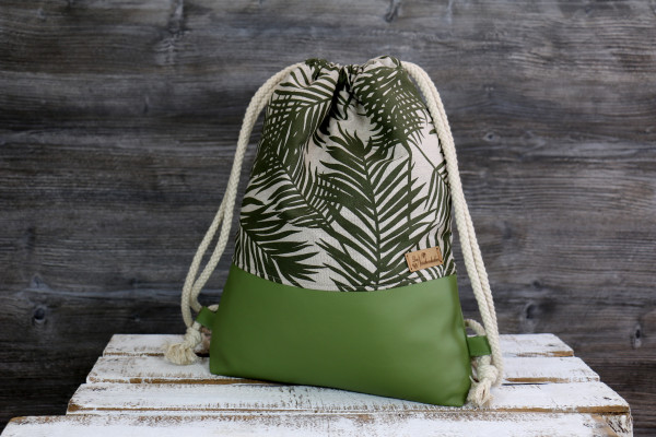 Festivalbag Palm leaves Olivegreen