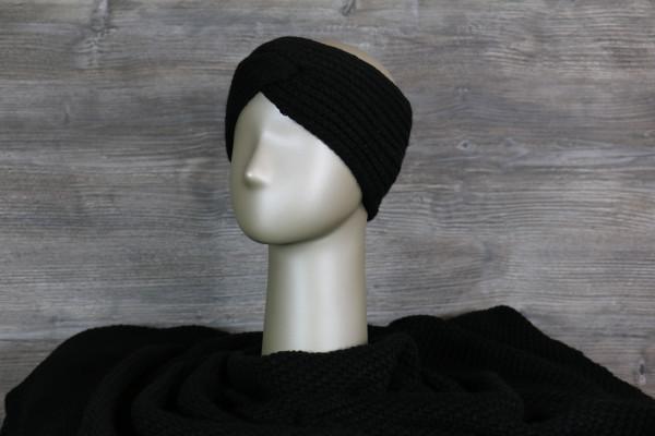 Stirnband gestrickt black