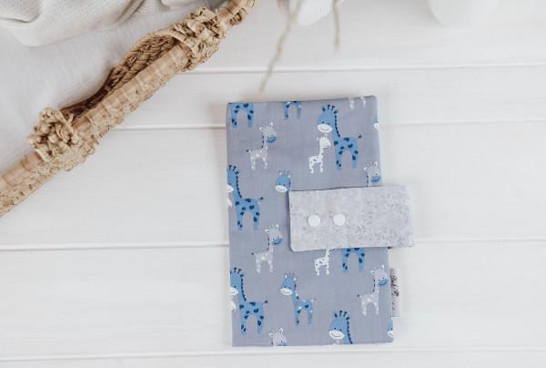 Windeltasche Giraffe blau-grau (mit Öffnung)