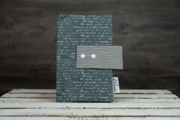 Windeltasche Letters dunkelgrau (mit Öffnung)