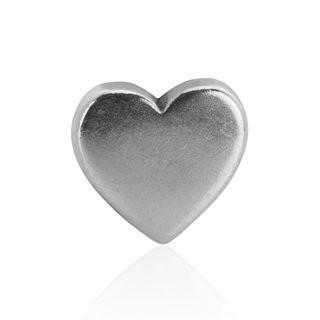 Mini-Schiebeperle Metall Herz silber