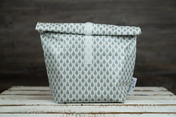 Lunchbag Tropfen blau