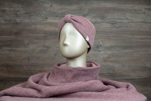 Stirnband mit Schlaufe bordeaux