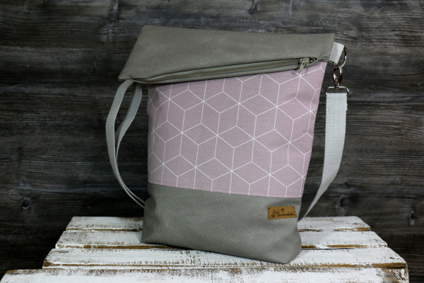 Fold-over-Tasche Geo rose