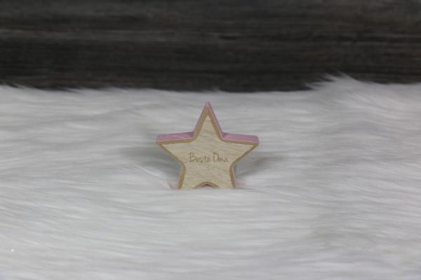 gravierter Stern klein rosa