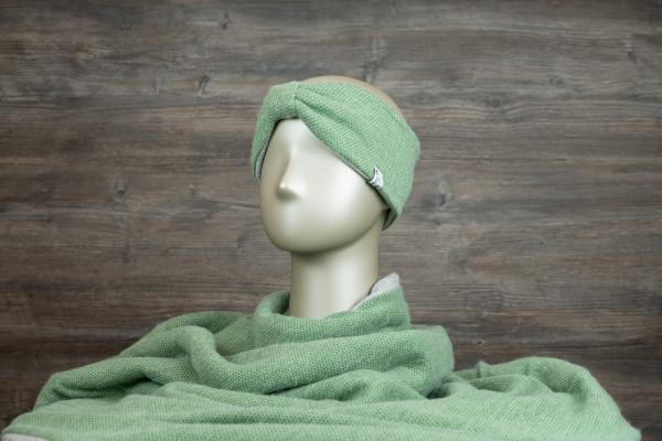 Stirnband mit Schlaufe grün