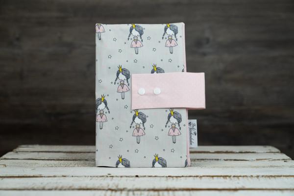 Windeltasche Prinzessin grau-rosa (geschlosen)
