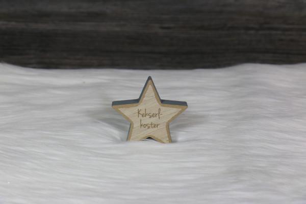 gravierter Stern klein grau
