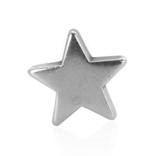 Mini-Schiebeperle Metall Stern silber