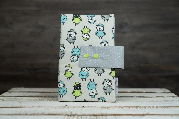 Windeltasche Schafe blau-grün
