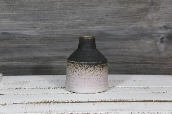 Vase rund anthrazit/rosa