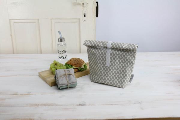 Lunchbag Tropfen grau