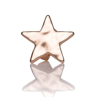 Mini-Schiebeperle Metall Stern gehämmert rosegold