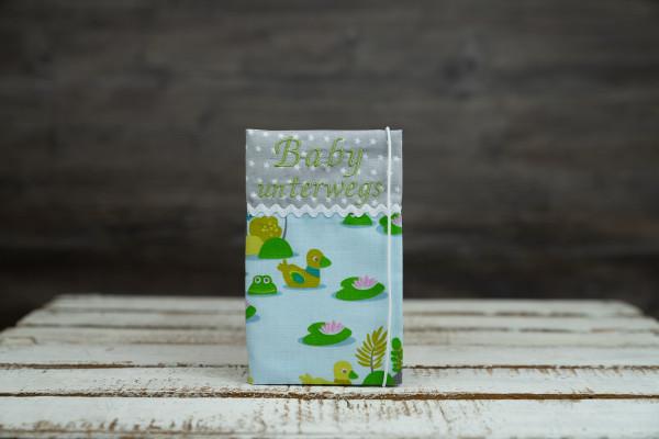 Mutter-Kind-Pass Hülle Ente blau-grün
