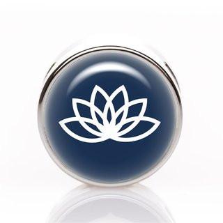 Schiebeperle Lotus blau