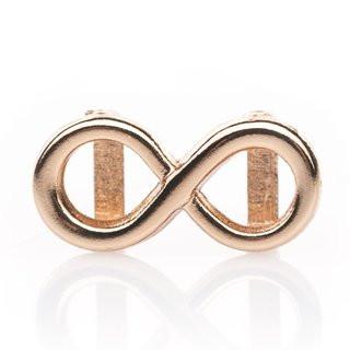 Mini-Schiebeperle Metall Infinity rosegold