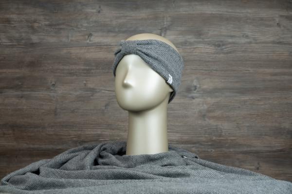 Stirnband mit Schlaufe dunkelgrau