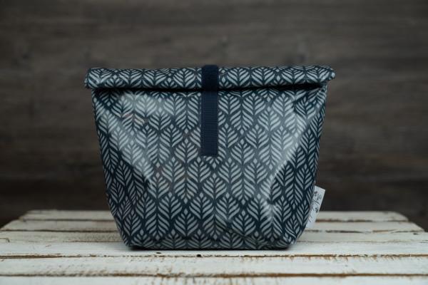 Lunchbag Blätter blau