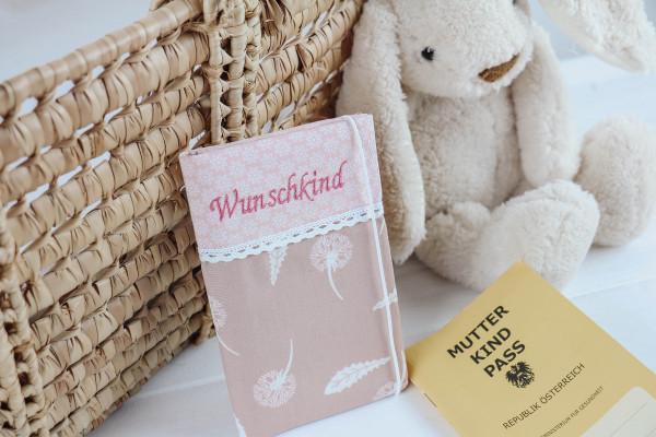 Mutter-Kind-Passhülle Pusteblume altrosa