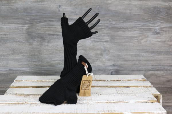Armstulpen gestrickt blacke