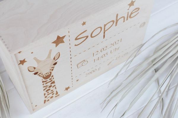 Erinnerungsbox Giraffe personalisiert